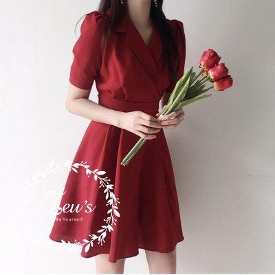 【ZEU'S】復古簡單收腰洋裝『 05119815 』【現+預】E