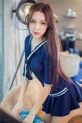 〖免運〗衣服情趣內衣制服誘惑學生妹水手服角色扮演性感套裝 【柒】