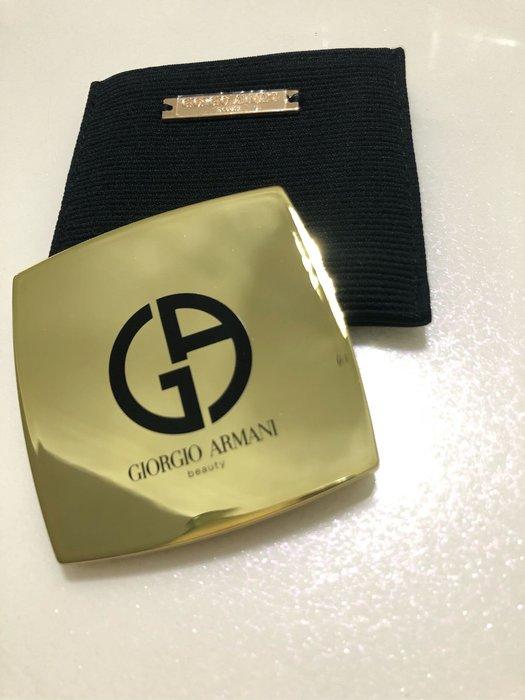 Giorgio Armani 亞曼尼隨身補妝時尚鏡小樣 正品 盒裝 附提袋 8cm/7.5cm 化妝鏡