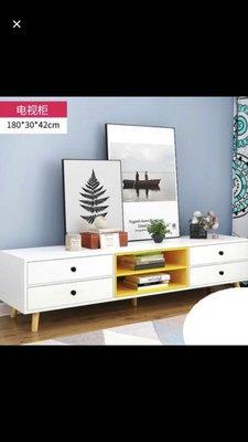 歐式電視櫃茶几小戶型客廳家具套裝組合實木腿地櫃儲物櫃子 實木腿材質 穩固承重