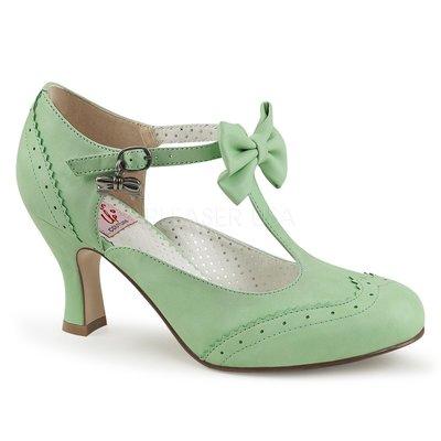 Shoes InStyle《三吋》美國品牌 PIN UP CONTURE 原廠正品蝴蝶結復古高跟包鞋 有大尺碼『粉綠色』