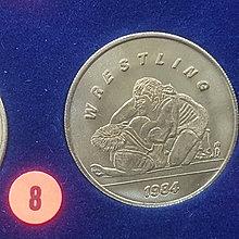 ☆承妘屋☆1984年美國洛杉磯奧林匹克運動會奧運紀念章 ~ZAB.摔角.8