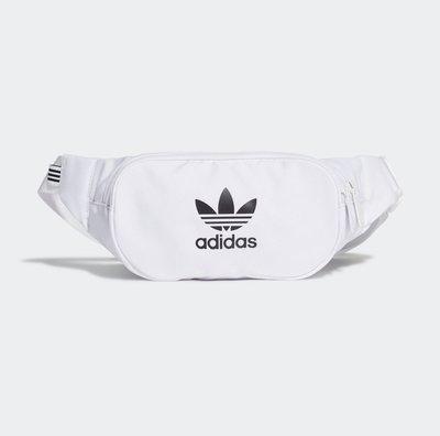 《Amys shop》日本直購~日本愛迪達logo尼龍材質腰包/肩包~現貨白/寶貝粉紅/青