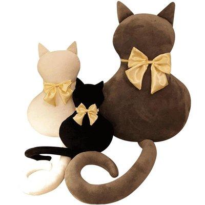 公仔背影貓咪大抱枕毛絨玩具玩偶靠墊可愛公仔畢業女孩抱著睡覺的娃娃