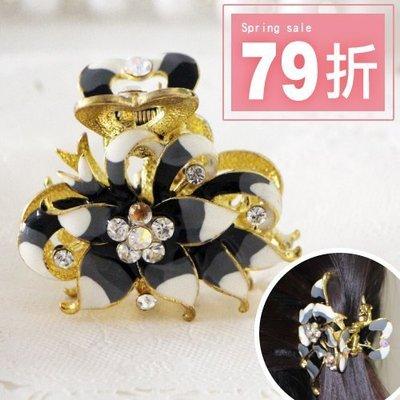 韓國 髮飾 飾品 復古 花花造型 金屬...