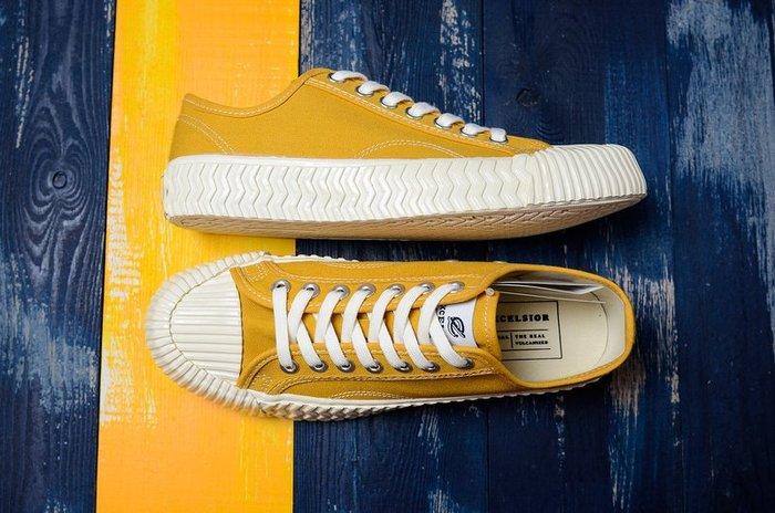 Excelsior Bolt 餅乾鞋 韓國 黃白 低幫復古生膠 帆布鞋 男女休閒板鞋