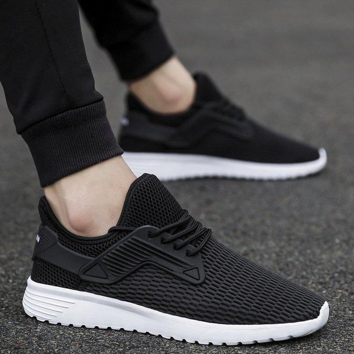 時尚男鞋新款輕便男鞋韓版爆款網面運動鞋戶外帆布鞋