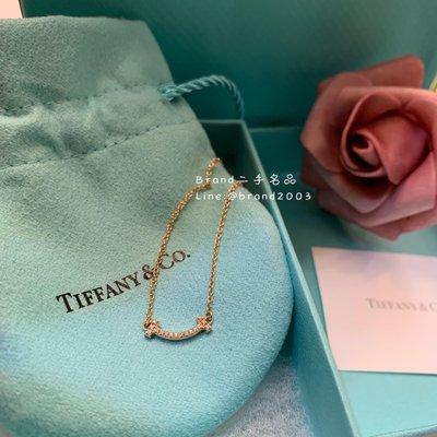 【Brand二手名品】TIFFANY 18K玫瑰金微笑鑽石項鍊 K金 smile 全新現貨