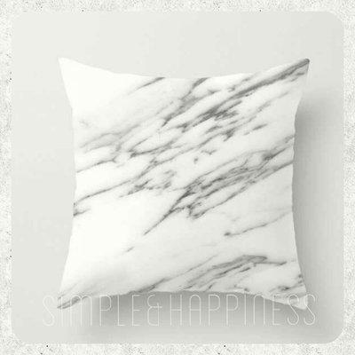 [限時限量特價]北歐大理石紋抱枕 靠枕 靠墊 *♡嚴選優質材質,寶寶也可以放心使用喔(⺣°◡°⺣)♡*