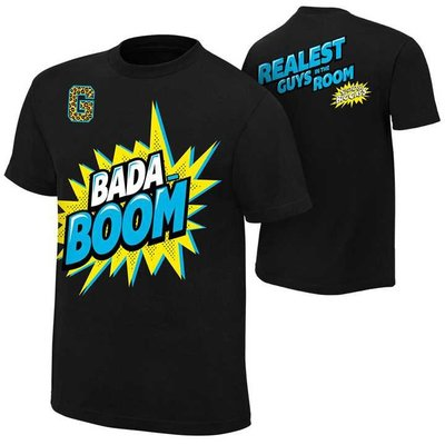 WWE摔角衣服Enzo Big Cass Bada-Boom Youth Authentic 恩佐黑色短袖T恤 買三免運