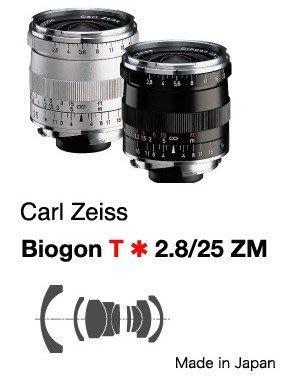 @佳鑫相機@(全新品)Zeiss蔡司 ZM Biogon T* 25mm F2.8 (銀) Leica M用 公司貨