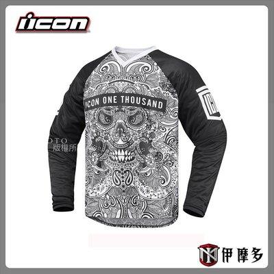 伊摩多※美國 ICON 1000 LACEFACE -  V領 罩衫  美式 舒適 休閒 LOGO 黑S 展示出清