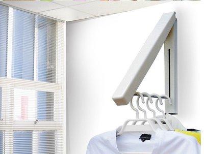 SK26迷你壁掛浴室小型可伸縮隱藏式晾衣架 魔術晾衣架 新型堅固萬用折疊窗框曬衣架 窗框掛衣架子掛衣桿掛窗戶創意衣架陽台