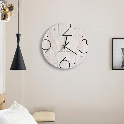 哆啦本鋪 掛鐘吊鐘裝飾田園創意北歐木質簡約掛鐘客廳現代靜音時鐘大號墻鐘藝術D655