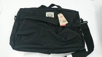 ( 大腳宗哥 ) LEVIS 黑帆布 手提 側背 電腦包 質感很棒    現貨