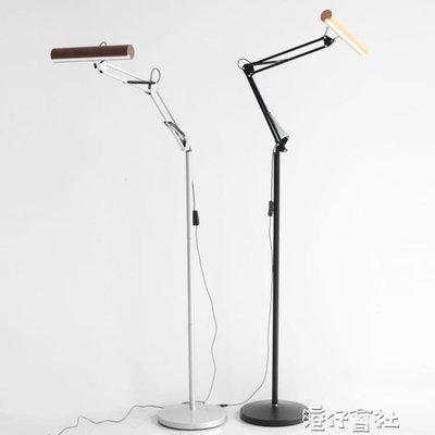 木質落地燈日式落地燈現代復古美式經典實木LED地燈igo