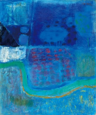 (出價可談)陳德旺 抽象 72.5x60.5cm 油畫 1965(美術,藝術,廖繼春,李梅樹,楊三郎,陳澄波,台陽)