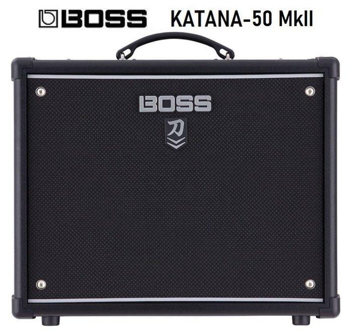 【六絃樂器】全新 Boss KATANA-50 MkII 電吉他音箱 / 出力50W 刀系列第二代