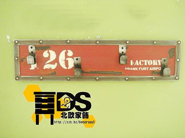 DS北歐家飾§ loft工業風 貨櫃鐵皮屋鐵鏽 紅壁掛勾衣架實木仿舊復古美式鄉村 個性咖啡廳
