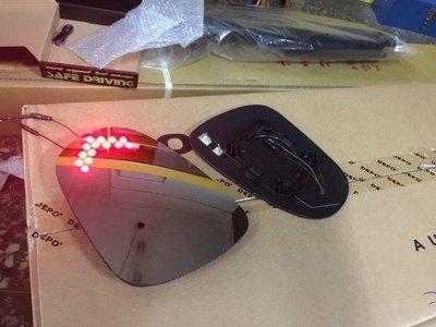 (柚子車舖) LEXUS 1998-2005 GS300 鉻鏡雙箭頭LED方向燈電熱除霧後視鏡片(專用卡榫)