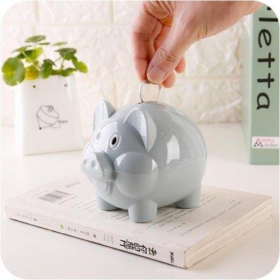 ☜男神閣☞卡通可愛小豬存錢罐塑料防摔硬幣儲蓄罐 創意禮物男女兒童儲錢罐