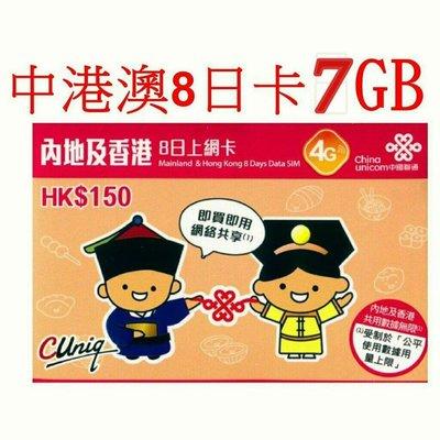 〈寶媽雜貨小舖〉[10張]可上任何網路-中港8日5GB流量,中國大陸 上網卡 可熱點分享 無語音功