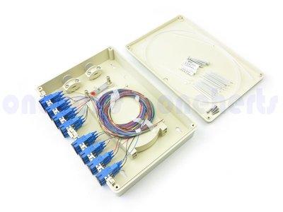 萬赫視訊 ABS 24口塑鋼壁掛式光纖終端盒 全配 可以搭配SC FC LC 耦合器及豬尾巴 終端盒 末端盒 光纖盒