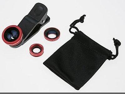 三合一手機外接鏡頭 魚眼 廣角 微距/近拍 HTC NEW ONE Butterfly S SONY XPERIA
