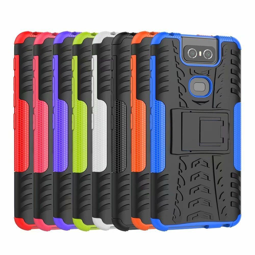 華碩 Zenfone ZEN 6 ZS630KL 手機 保護 輪胎 殼 套 炫紋 支架 耐摔