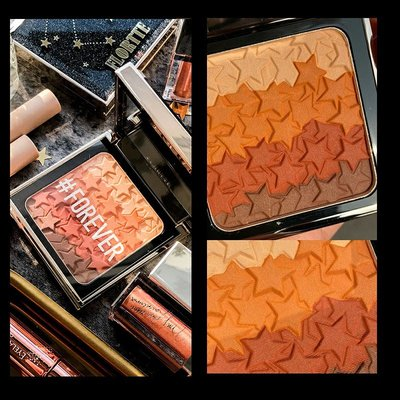 Hali美妝正品全球購FLORTTE花洛莉亞星愿修容腮紅蜜眼影3色一體盤組合裸妝陰影修容