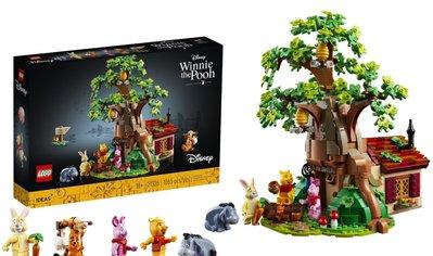 現貨  LEGO  樂高  21326  Ideas 系列 小熊維尼  全新未拆 公司貨 另售遙控燈組