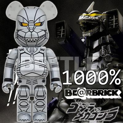 BEETLE BE@RBRICK GODZILLA 哥吉拉 酷斯拉 機械哥吉拉 機龍 庫柏力克熊 1000%