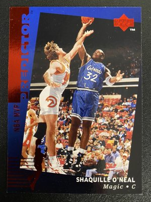 Shaquille O'Neal 1995-96 Upper Deck Predictor #H21 RED