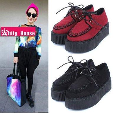 =WHITY=韓國FUPA品牌 韓國製 真皮裡透氣好穿出口日本專櫃訂單超多厚底鞋 S3HA467