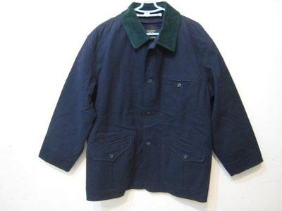 NEW YORKER 海軍藍 毛料混紡外套/L 日本製 內裡可拆
