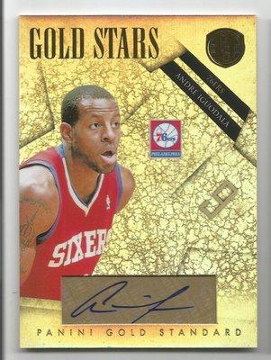 【MBC】Andre Iguodala 2010-2011 Gold Standard AUTO 金亮簽名卡 43/99