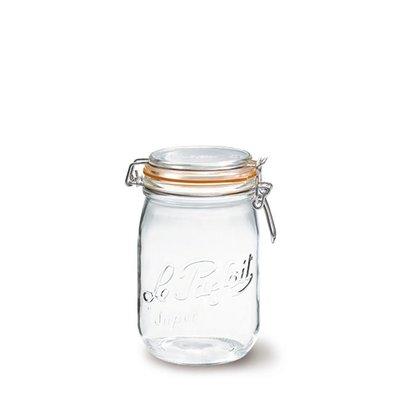☘小宅私物 ☘ 法國 Le Parfait 玻璃密封罐 經典系列 1L 單入 (含密封圈) 收納罐 現貨 附發票