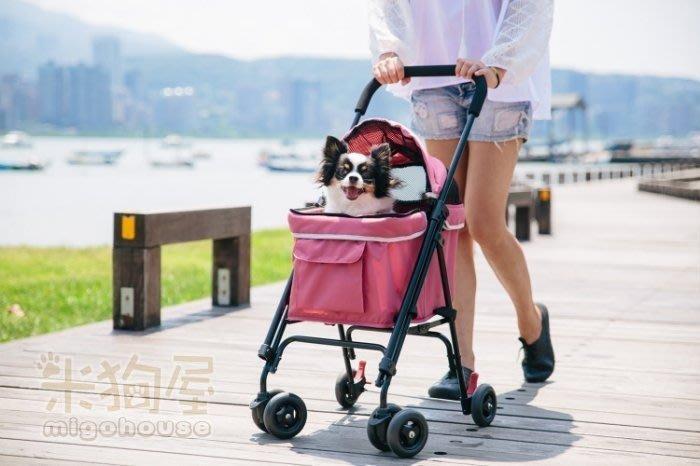 【米狗屋】免運費 IBIYAYA心機寵物小車(機車適用)˙莓果粉/天空藍˙小型犬貓˙寵物推車