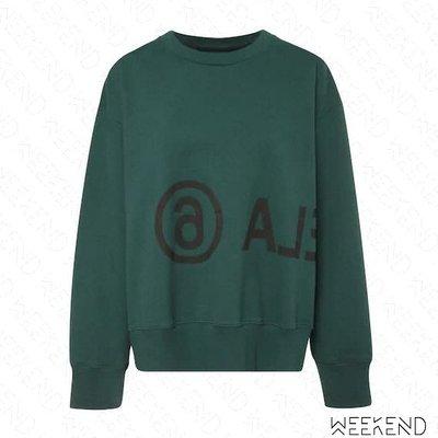 【WEEKEND】 MM6 MAISON MARGIELA Reversed Logo 長袖 上衣 衛衣 大學T 綠色