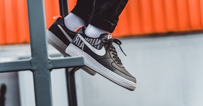 南◇2019 11月 Nike Air Force 1 Low Bq4421-002 反光 AF1 黑色 白色 皮革