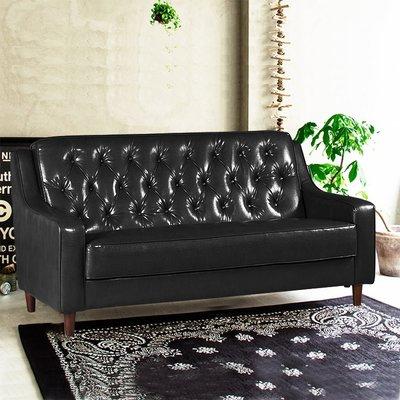 【179購物中心】新上海-百年經典復古三人沙發172cm-三人座皮沙發-破盤$6800-黑色/咖啡-兩色