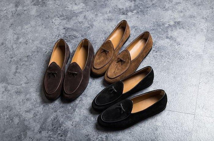 【NoComment】歐美紳士 質感簡約 復古絨皮休閒皮鞋 Zara Izzue