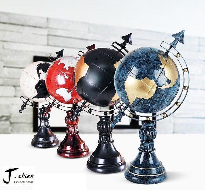 J.chien ~[全館免運]歐式創意小擺件 客廳電視櫃工藝品 工藝品 房間臥室個性擺件  地球儀擺件 工藝品