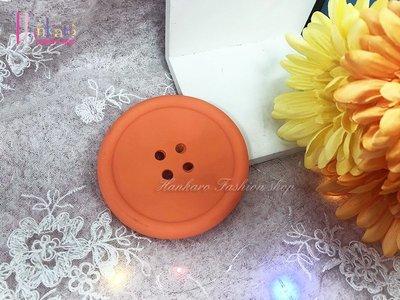 ☆[Hankaro]☆創意鈕扣造型糖果色圓形矽膠防滑杯墊