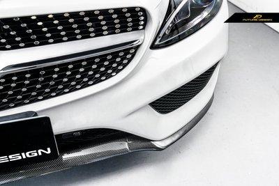 【政銓企業】 BENZ W205 AMG 保桿 專用 抽真空 碳纖維 卡夢OEM款 前下巴 替換式C250 C300現貨