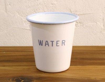 鄉村雜貨小市集*zakka 日本購回 HOMESTEAD 經典款藍字琺瑯杯 漱口杯