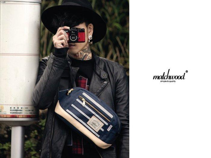 { POISON } MATCHWOOD DENSITY 3M反光條特別款 腰包 側背包 斜背包 胸前包 深藍