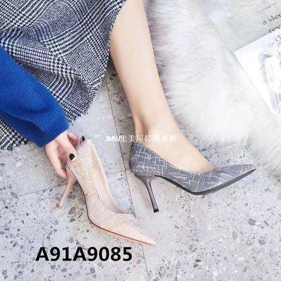 JMW集美屋韓國專櫃2019春季新款細跟高跟尖頭淺口女單鞋官方網正品9085