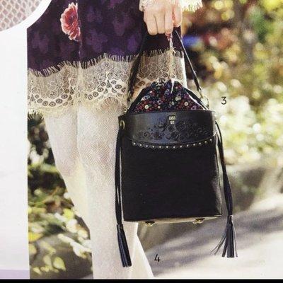 全新商品 Anna sui 花蝶兩用小包 側背包 手提包 斜背 肩背 水桶包