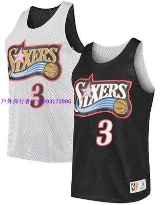 戶外探行者~ Mitchell & Ness NBA 雙面練習球衣 The Answer Iverson #3 76人